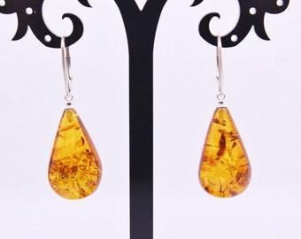 Baltic Amber Earrings, Womens jewelry, Luxury jewelry, Statement earrings, Gemstone earrings, Amber jewelry, Womens earrings, Mothers Day