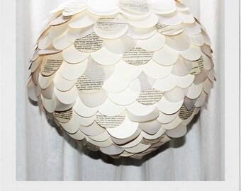 Ivory & Literature paper lantern shade