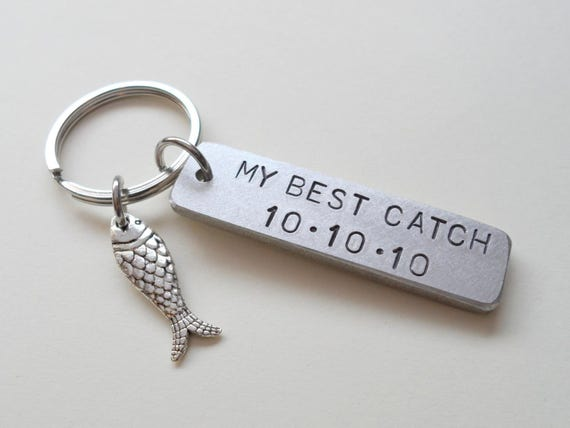Anniversary keychain fish keychain couples keychain gift for What to get my boyfriend for anniversary