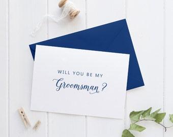 Be my Groomsman Card, Will you be my Groomsman Gift, Groomsman Proposal Card, Bridal Party Cards, SKU: WYB003
