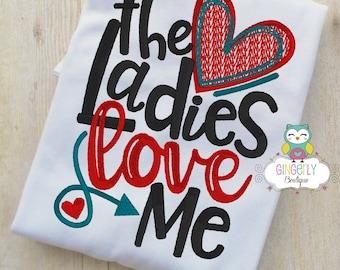The Ladies Love Me Valentine Shirt or Bodysuit, Valentine Shirt, Valentines Day Shirt, Valentines Day Outfit, Boy Valentine