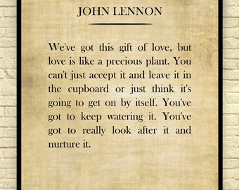 Classic Book Page, John Lennon, John Lennon Quote, Vintage Book Page, Book Wall Art, Book Page Art Print, Gift for Book Lovers