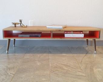 Coffee Table, Wood Legs, Desk, TV, Entertainment, Media Cabinet, Console, Stand, Storage, Shelf, Case Modern
