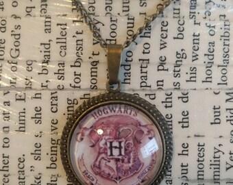Hogwarts Crest Pendant Necklace
