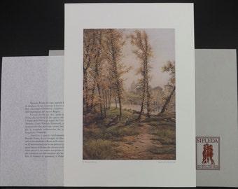 Italian art print-realism art print-vintage art print-Roesler Franz print-Prati Castillo print-print in portfolio-land waterscape print