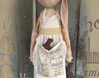 "Doll KIT: Ellie Mae - 32"" Prairie Bunny - Kit of supplies."