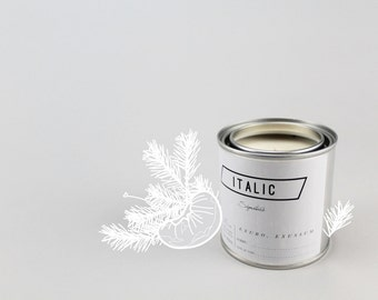 13 // Dusk - Half Pint (8oz) Scented Soy Candle in Paint Can (Balsam Fir and Mandarin)