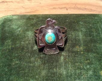 Early, Vintage Fred Harvey Thunderbird Ring