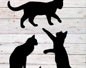 Cat Silhouette Decal