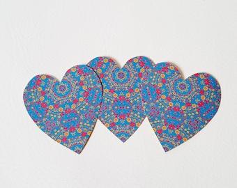 Flower Sticker Folk Art Floral Heart Boho Hippy Print Stationary