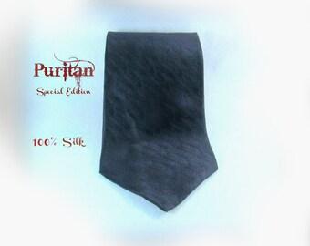 Black tie, men's black tie, black suit tie, men's silk tie, men's necktie, black necktie,    # 84