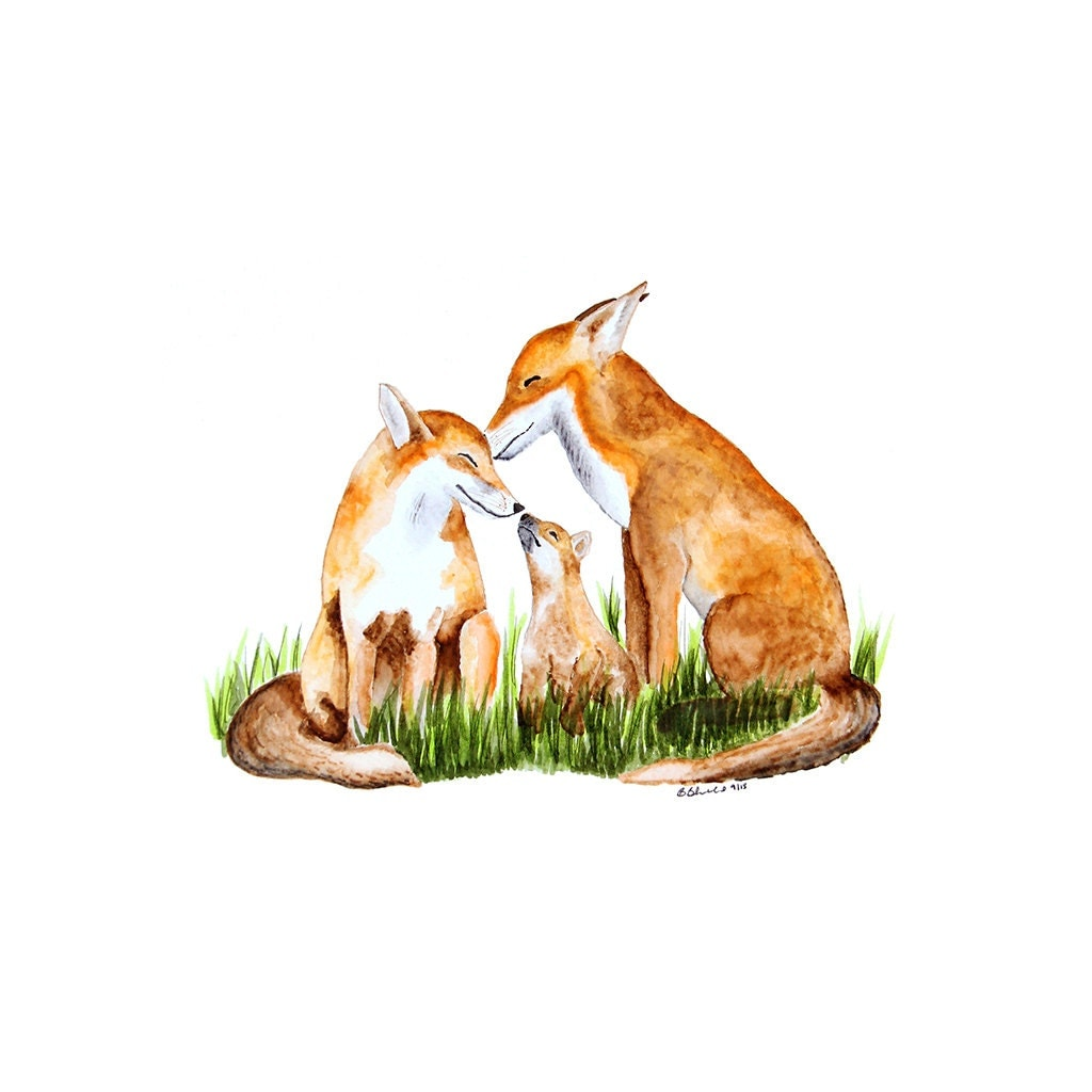 Fox Art Print For Woodland Nursery Fox Wall Art Woodland