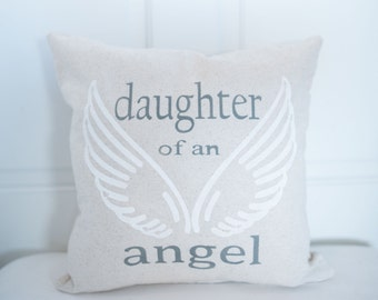 Memory Pillow - Daughter of an Angel - Personalized - Memorial Pillow