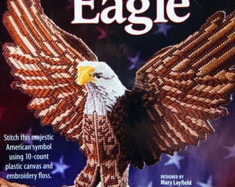 Sculptured Eagle By Mary Layfield Plastic Canvas Pattern Leaflet 2010