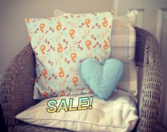 40% OFF Woodland Creatures Cushion Cover - Childrens Room Decor - Fox Deer animals