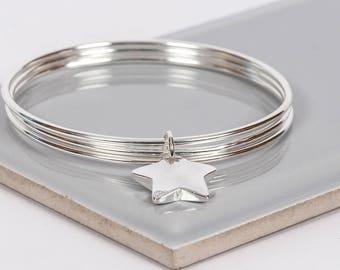 Silver Star Bangle