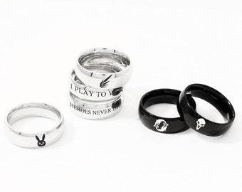 Overwatch Character Ring, Stainless Steel, Geekery, Videogames, Gamer Gift, Custom Ring, Geek, Gamer Ring,