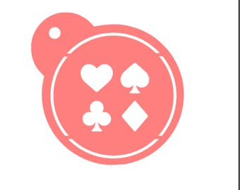 Playing Cards Stencil, Playing Card Cookies, Poker Cookies, Spades Cookies, Cards Baking Stencil, Casino Cookies, Card Game Cookies