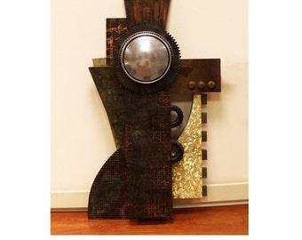 Contemporary American Motor Series Brutalist Hanging Sculpture by Karen Musmeci