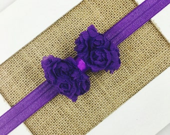 Purple Bow Headband,Baby girl headband, Newborn Headband, Bow Hair Clip, Toddler Gift, Baby Gift,Headband Gift, Baby Bow Headband,Purple Bow
