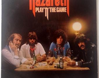 Nazareth - Play'n' The Game LP Vinyl Record Album, A&M Records - SP-4610, Hard Rock, Rock, 1976, Original Pressing