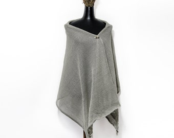 Linen shawl sister gift linen scarf, shawls and wraps,  linen wrap, linen scarves, linen knitwear, linen scarf women, autumn scarf, linen
