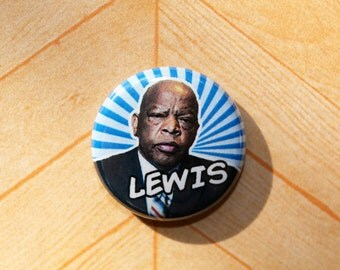 John Lewis Democrat Politics Political Democratic- One Inch Pinback Button