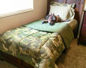 Local Pickup Only - Cottage Twin Bed - Wood twin bed - Kona - Twin Wood bed