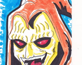 "Hobgoblin Spider-Man 2 1/2"" x 3 1/2"" artist trading card ACEO"
