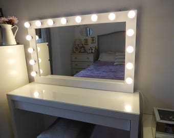 Mirror etsy for Miroir hollywood ikea