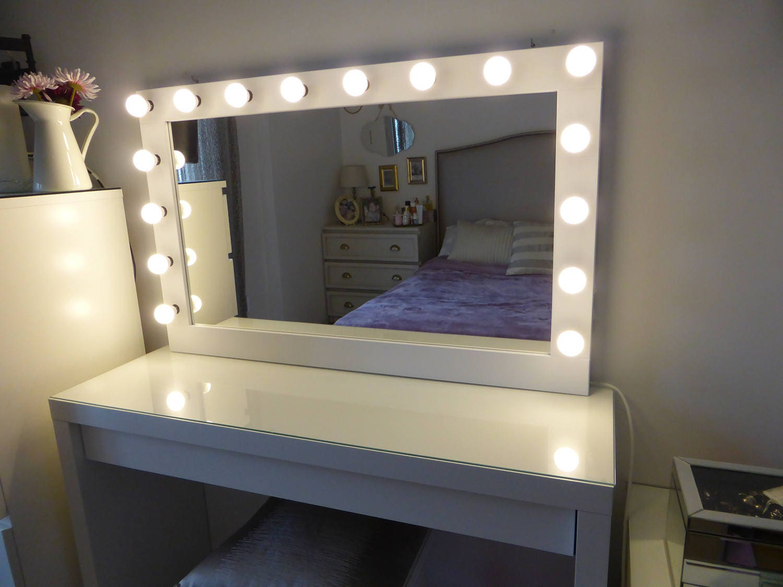 Xl Hollywood Vanity Mirror 43 X 27 Makeup Mirror