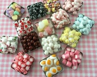 Dolls House Miniature Tray of Sweets  Style B - Handmade