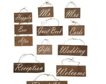 Deluxe Rustic Wedding Wood Sign Decor Kit, Cards, Guest book, Mr. & Mrs., on Upcycled Barn Wood - Barnwood