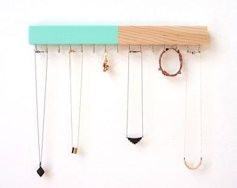 Necklace Holder Jewelry Organizer Wood Jewelry Holder
