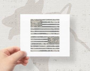 "Set of 2 - Jeep Wrangler American Camo Flag Decals - 6"" x 3.16"""