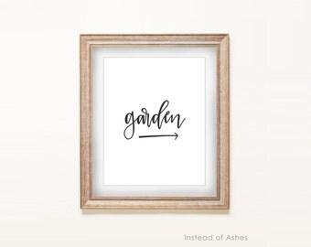 Print - Garden, This Way   |  8x10 Art Print, Gardener, Green Thumb, Florist