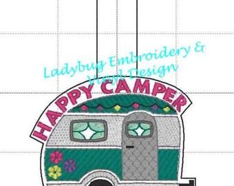 Happy Camper Key fob design
