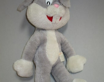 BUGS BUNNY PLUSH Animal, Stuffed Bugs Bunny, vintage Bugs Bunny, Warner Brothers stuffed animal, 1971 stuffed Bugs Bunny, cute Bugs toy