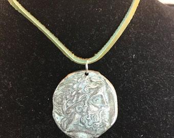 Replica of Antique Greek Zeus coin