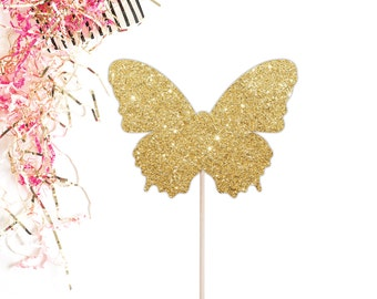 Butterfly Cake Topper, Glittery Birthday Cake Topper, Butterfly Birthday, Butterfly Decoration, Baby Shower Cake Topper
