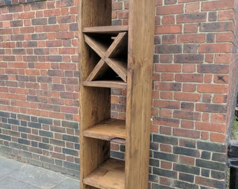 rustic Chunky Bookshelf Bookcase Storage Cube Unit Handcrafted from Reclaimed Wood Made to order