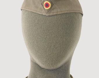 Vintage German army Moleskin side cap beret schiffchen military hat bundeswehr womens