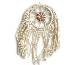 Dreamcatcher Spiritual gift Macrame dream catcher Copper wall decor Goldstone Fiber wall hanger Modern dreamcatcher Spiritual Cotton hanging