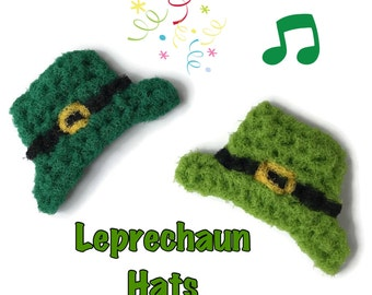 Dish Scrubbies,Leprechaun Hats,Crochet Scrubbies,Set of 3 through 8 Hat Scrubbies,St. Patrick's Day,Dish Scrubby,Dish Scrubber,Hostess Gift