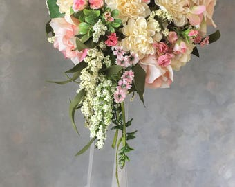 BRIDAL silk WEDDING FLOWERS bouquet