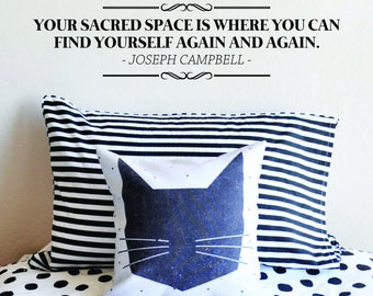 Joseph Campbell Your Sacred Space Vinyl Decal Wall Sticker Decor Quote