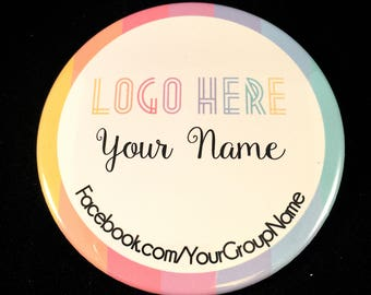 Custom Fashion Consultant Magnet, Button or Pocket Mirror – Business Card Alternative – Personalized Buttons, Magnets & Pocket Mirrors