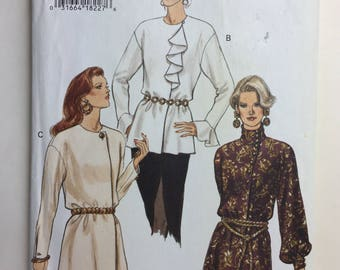 Very Easy Vogue 8855 Misses' Tunic Pattern Sizes 12,14,16 Uncut