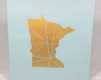 Geo Minnesota Canvas Painting