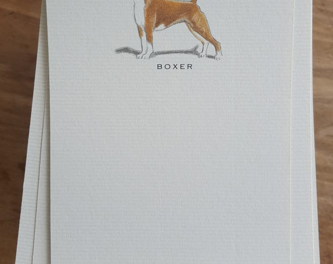 Boxer Dog Note Card Set